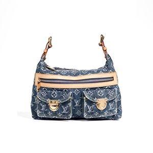 Louis Vuitton Baggy PM Denim Hobo Shoulder Bag